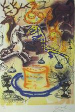 サルバドール・ダリ「タルトを盗んだのは誰?」版画58.5×40cm
