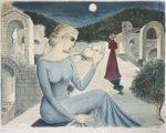 ポール・デルヴォー「パイオリーブ」版画59.4×78.9cm