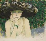 カシニョール「四月」版画45×54.5cm