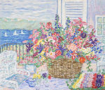 レスリー・セイヤー「フロムザテラス」版画53×63.7