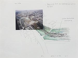 川俣正「Park」色鉛筆・ペン・写真