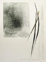 篠田桃紅「古代の歌」手彩色版画34×25cm