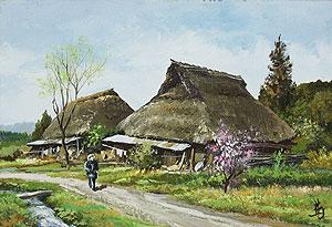 林喜市郎「春の備後路」油彩