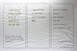荒川修作「DWAN Gallery Exhibition」オフセット