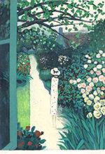 カシニョール「並木道の散歩」版画65×48cm