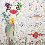 村上隆「パンダとその友人」版画78×78cm