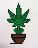 インベーダー(Invader)「Hollyweed(Brown)」版画55×42cm