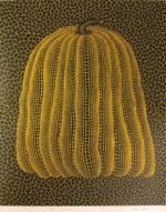 草間彌生「かぼちゃ(黄T)」版画72.3×60.4cm