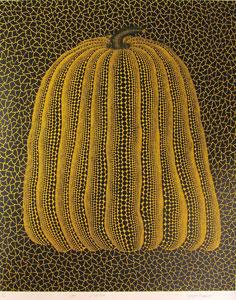 草間彌生「かぼちゃ(黄T)」版画