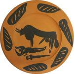 パブロ・ピカソ「闘牛の風景」セラミック直径23cm