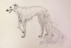 松井冬子「切断された長期の実験:犬」版画