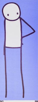 STIK(スティック)「BIG ISSUE(青)」版画55×20.5cm