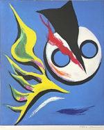 岡本太郎「子供の時間」版画47×39cm