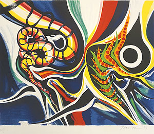岡本太郎「虫と子供」版画