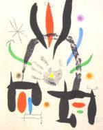 ジョアン・ミロ「L'eloge de La Main」版画65×51.5cm
