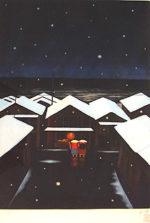斎藤真一「みぞれ」銅版画39.4×29.3cm