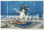 ルイ・イカール「シェヘラザード」銅版画34×51.8cm