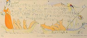 山本容子「Siciliana green」手彩色銅版画