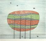 南桂子「樹木」銅版画29.5×34.5cm