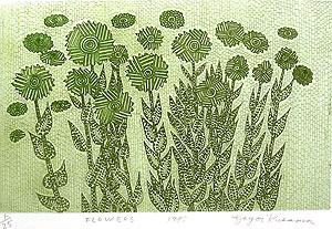 草間彌生「FLOWERS」銅版画