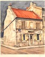 荻須高徳「4月のアルジャントゥイユ」版画55×46cm