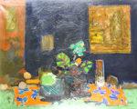 ジル・ゴリチ「赤いテーブルクロス」油彩30号