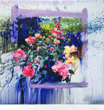 トレンツ・リャド「モナコの薔薇」版画71×71cm