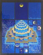 前田常作「須弥山マンダラ図シリーズ:星宿光」アクリル6号