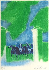 アンドレ・ブラジリエ「夏の乗馬」版画
