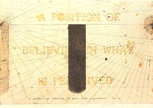 荒川修作「意味されるもの あるいは もしも No.1」銅版画