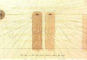 荒川修作「意味されるもの あるいは もしも No.2」銅版画