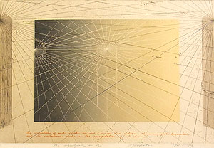 荒川修作「意味されるもの あるいは もしも No.4」銅版画