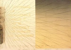 荒川修作「意味されるもの あるいは もしも No.5」銅版画