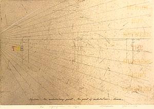 荒川修作「意味されるもの あるいは もしも No.6」銅版画