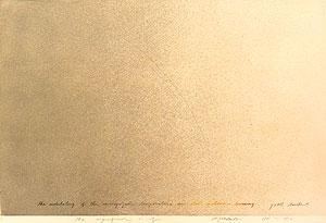 荒川修作「意味されるもの あるいは もしも No.7」銅版画