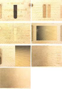 荒川修作「意味されるもの あるいは もしも No.1-No.7」銅版画