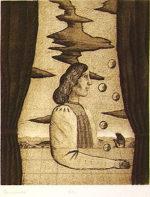 有元利夫「Sarabande:7つの音楽」銅版画17.7×15cm
