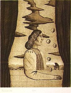 有元利夫「Sarabande:7つの音楽」銅版画