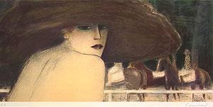 カシニョール「秋の色」版画