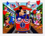 ウォルト・ディズニー「キャンペントレール」版画41.5×54.2cm