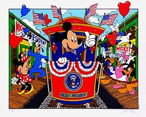 ウォルト・ディズニー「キャンペントレール」版画