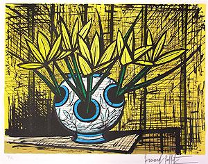 ベルナール・ビュッフェ「黄色いクロッカス」版画