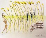 サルバドール・ダリ「収穫機」銅版画37×51cm