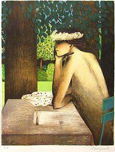 カシニョール「庭の手紙」版画