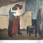 パブロ・ピカソ「抱擁」版画51.6×55cm1960年