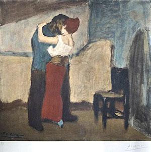 パブロ・ピカソ「抱擁」版画