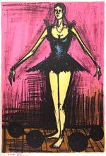 ベルナール・ビュッフェ「マドモアゼル」版画74.5×68cm