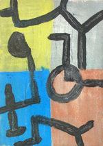 水島哲雄(ミズテツオ)「Nのすみか」油彩26×18.5cm