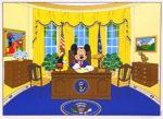 ウォルト・ディズニー「オーバルオフィス」版画50.5×63.7cm