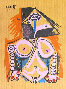 パブロ・ピカソ「想像の中の肖像23.2.69」版画